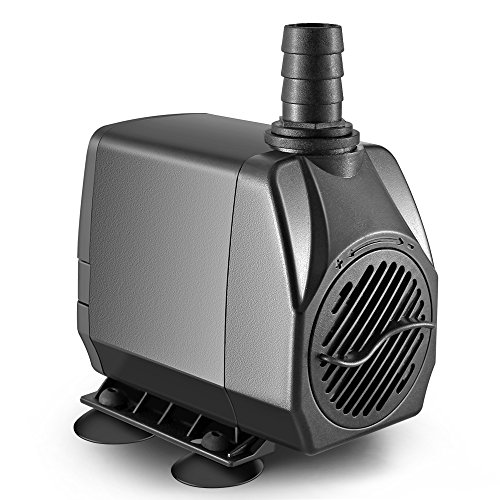 OBVIS 660 GPH Submersible Pump Indoor Outdoor Water Fountain Pool Pump Aquarium Quiet US Plug (Water Aluminum Fountains)