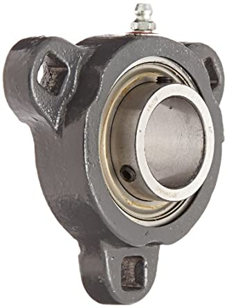 3 bolt flange bearing. browning vf3s-119m intermediate-duty flange unit, 3 bolt, setscrew lock, bolt bearing
