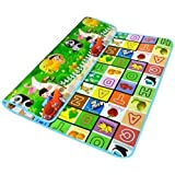 Kitchen Point Waterproof, Anti Skid, Double Sided Baby Crawling Playmat with Zip Bag (Large, 120x180 cm)