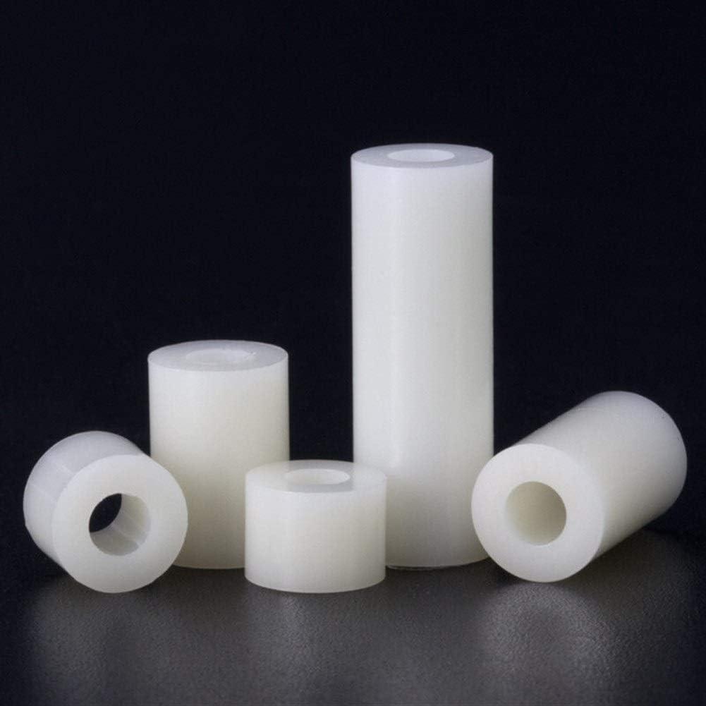 Inner Diameter : M 3, Outer Diameter : 6mm 100pcs SLZC 100pcs M3 M4 Nylon spacer standoff Non-Threaded column Plastic Washer for board isolation support