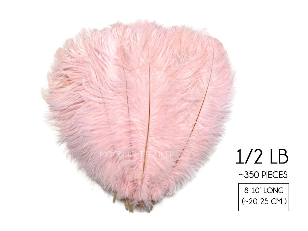 1/2 Lb - 8-10'' Baby Pink Wholesale Ostrich Drab Feathers (Bulk) Party Centerpiece Wedding Gatsby | Moonlight Feather by Moonlight Feather | USA SELLER (Image #7)