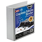 Find-It Gapless 5-Inch Mega Media Binder, 272 CD Capacity, Includes Pages, White (intft05015)