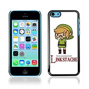 Colorful Printed Hard Protective Back Case Cover Shell Skin for Apple iPhone 5C ( Funny Link & Moustache )