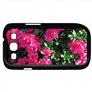 seasonal celebrations with flowers 31 (Flowers Series) Watercolor style - Case Cover For Samsung Galaxy S3 i9300 (Black)