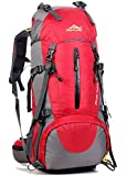 45+5L Camping Travel Waterproof Backpack Outdoor Hiking Daypacks Climbing Cycling Mountaineering Bag