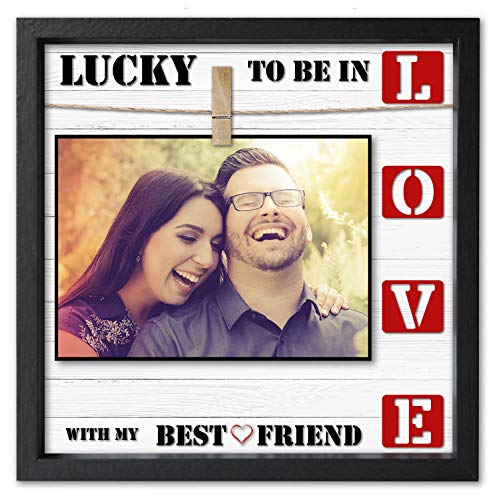 Love Picture Frame 4x6 • 5x7 Anniversary Picture Frame For Wife or Husband. Cleverly Designed Love Photo Frame. Fits All Sizes up to 7x7. Awesome Present For Boyfriend or Girlfriend. (Love Photo)