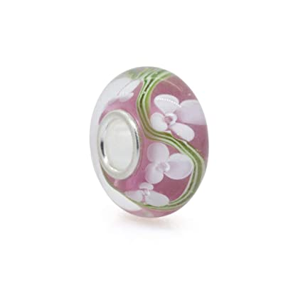c19f20cd9 Everbling Clover Murano Pink Glass with 925 Sterling Silver Core Bead Fits European  Charm Bracelet