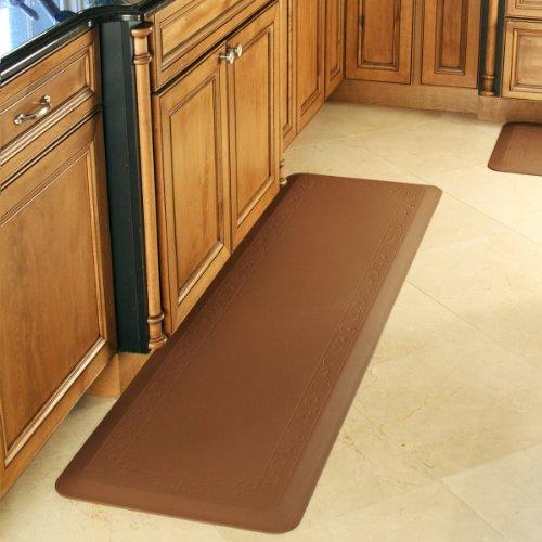 Smart Step Home Collection Fleur-de-Lys Design Mat, 72-Inch by 20-Inch, Brown