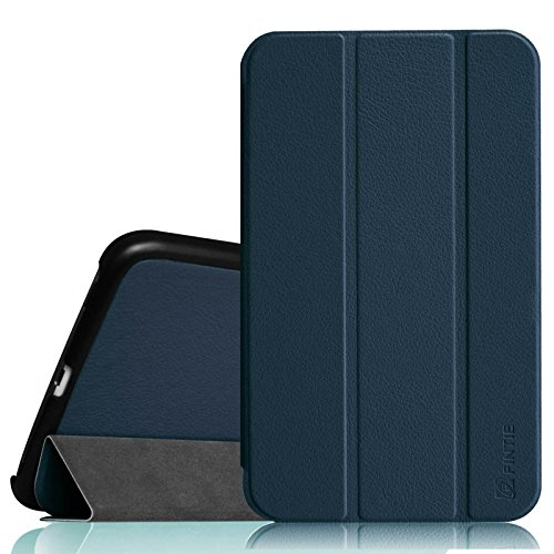 Fintie Samsung Galaxy Tab 4 7.0 Case - Ultra Lightweight Protective Slim Shell Stand Cover for Samsung Tab 4 7.0(7-Inch) Tablet (Will NOT Fit Samsung Galaxy Tab A 7.0), Navy (Samsung Galaxy Tab 4 Back)