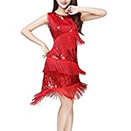 Whitewed Fringe Great Gatsby Themed Party Prom Dresses Costumes Clothing Outfits
