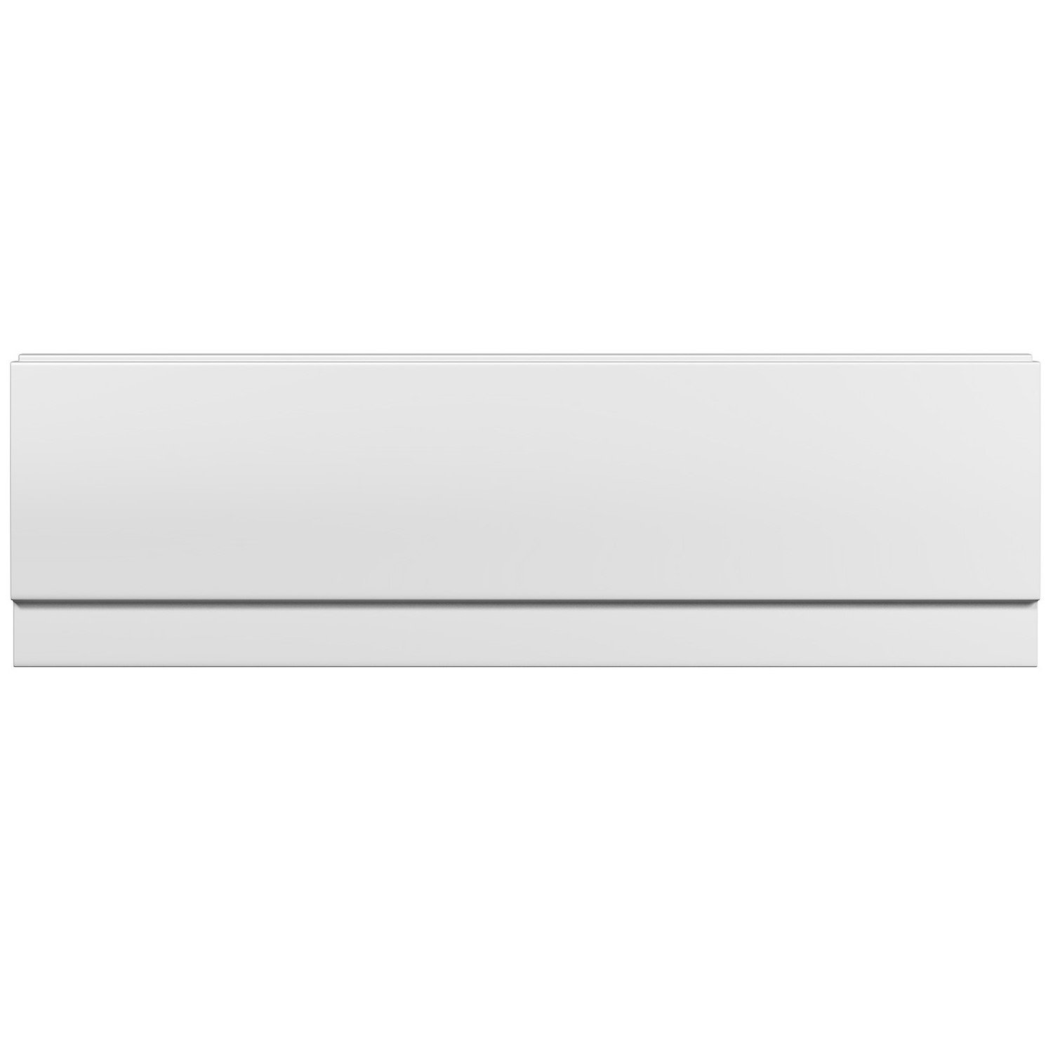 1600mm Modern White Gloss Straight Side Bath Panel iBathUK