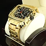 Big Look Unique Blinged Out Icy Hip hop Diamond Celebrity Watch New
