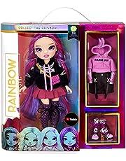 Rainbow High Fashion Doll - Verzamelbaar speelgoed voor kids - met 2 outfits voor Mix & Match en poppen accessoires - Leuk cadeau voor kinderen van 6-12 jaar, EMI VANDA - Orchidee (Diep paars)
