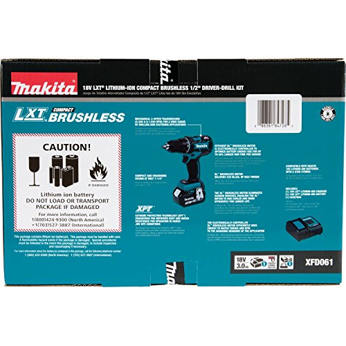 Makita-XFD061-18V-LXT-Lithium-Ion-COMPACT-Brushless-Cordless-12-Driver-Drill-Kit