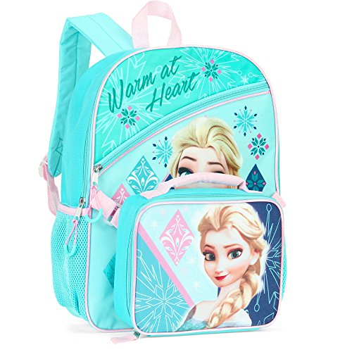Disney's Frozen Elsa Full Size Backpack with Insulated Lunchbox Bag