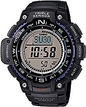 Casio SGW-1000-1AER - Reloj con correa de resina para hombre, color negro / gris