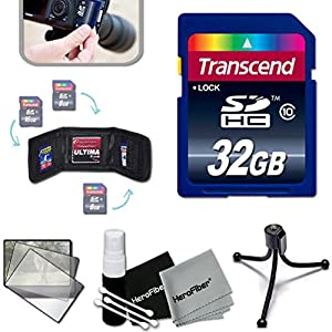 Transcend 32GB High Speed Memory Card KIT for PANASONIC Lumix DMC-T6S TS30 SZ10 ZS45 ZS50 ZS35 ZS40 SZ8 ZS30 TZ40 TS5 FT5 XS1 SZ3 FH10 F5 ZS25 TZ35 TS25 FT25 SZ5 ZS20 TZ30 TS20 FT20 TS4 FT4 ZS15 TZ25 SZ7 SZ1 FH8 FH6 S2 FX90 FH7 FS22 FX78 FX77 ZS10 TZ20 TZ