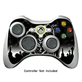 xbox 360 reaper skins for console - Skin Stickers for Xbox 360 Controller - Vinyl Leather Texture Sticker for X360 Slim Wired Wireless Game Controllers - Protectors Stickers Controller Decal - Reaper Black [ Controller Not Included ]