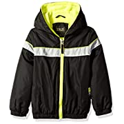 iXtreme Baby Boys Colorblock Jacket With Fleece Lining, Black, 3/6M