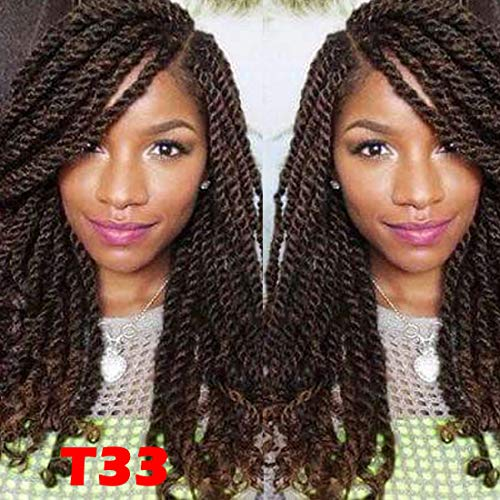 4 pack spring twist crochet braiding hair Ombre Colors Synthetic Hair Extensions T33
