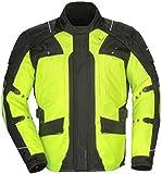 Tourmaster Transition Series 4 Men's Textile Motorcycle Touring Jacket (Hi-Viz/Black, XX-Large)