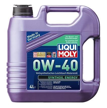 Liqui Moly Synthoil 0W-40 ACEA A1,ACEA A5,ACEA B1,ACEA B5 Fully Synthetic  Petrol/Diesel Engine Oil (4 L)