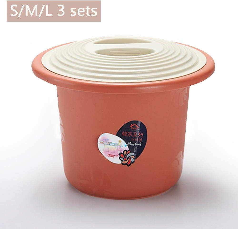 Commode Potty urinoir en Plastique de m/énage pour Toilettes en Plastique pour Adultes//Enfants QMJYP Seau avec Couvercle Camping id/éal
