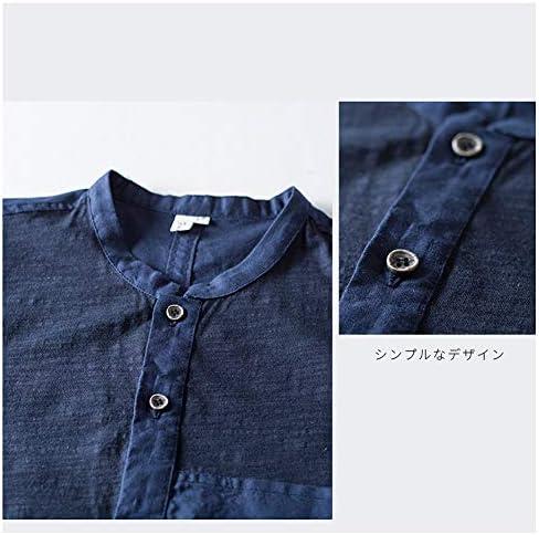 シャツ 夏服 メンズ リネンシャツ 五分袖 半袖 カットソー 麻綿 薄手 ゆったり おしゃれ 無地 カジュアル メンズファッション トップス
