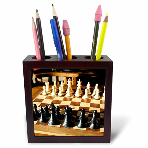 3dRose ph_85390_1 Argentina, El Calafate, Chess Board, Game - SA01 MME0236 - Michele Molinari - Tile Pen Holder, 5-Inch