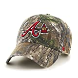 MLB Atlanta Braves Clean Up Adjustable Hat, One Size, Realtree Camouflage