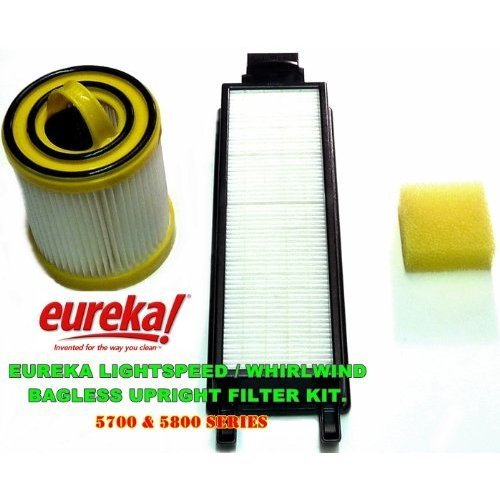 Eureka Litespeed Whirlwind Bagless Upright; 5700 and 5800 Series Filter Kit. Kit Includes HEPA Dust Cup Filter, HEPA Exhaust Filter and Foam Pre-Motor Filter., Appliances for Home
