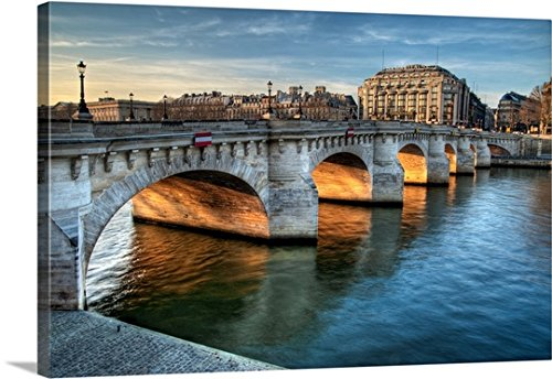 canvas-on-demand-premium-thick-wrap-canvas-wall-art-print-entitled-la-seine-pont-neuf-and-la-samarit