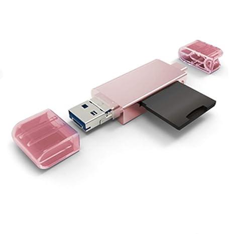 LYXLQ Micro SD/TF Lector de Tarjetas Compact Flash con 3 en ...