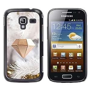 For Samsung Galaxy Ace 2 I8160 / Ace2 II XS7560M Case , Diamond Christmas Decoration - Diseño Patrón Teléfono Caso Cubierta Case Bumper Duro Protección Case Cover Funda