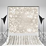 5x7ft Kate Holiday Christmas Backdrops Photography Frozen Snow Wood Floor Background for Children Photo Studio Backdrop