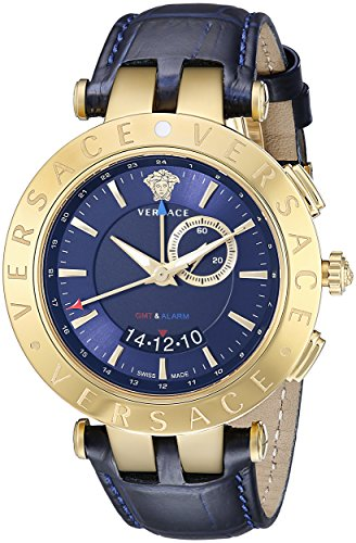 Versace Men's 29G70D282 S282 V-Race Get Alarm Analog Display Quartz Blue Watch