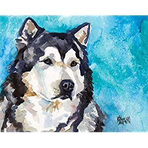 "Alaskan Malamute Art Print | Malamute Gifts | From Original Painting by Ron Krajewski | Hand Signed Artwork in 8x10"" and 11x14"" Sizes 2"