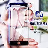 JPACC™ - iPhone 6 / 6S Screen Protectors 9H Full Glue Edge to Edge 6D Tempered Glass for iPhone 6 / 6S (Black Pack 1, Black)