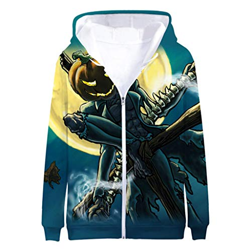 Steelers Halloween Memes (Men's Fashion TOP Halloween 3D Print Long Sleeve Zipper Hooded Sweater)