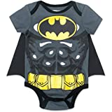 Batman Newborn/ Infant Baby Boys' Bodysuit with Cape Grey (0-3 Months)