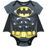 Batman Newborn/ Infant Baby Boys' Bodysuit with Cape Grey (3-6 Months)