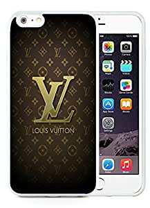 Brown Louis Vuitton Logo and Patterns White iPhone 6 Plus 5.5 inch TPU Cellphone Case Luxurious and Newest Design