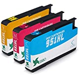 EBBO 3 Color 951XL Compatible Ink Cartridge Replacement for HP 951, High Yield, Latest Chips, Compatible with HP Officejet Pro 8610 8600 8620 8630 8100 8625 8615 8640 8660 251dw 276dw 271dw Printer