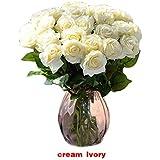 I9Q 10x Lattice Rosa Fiore Artigianali Bouquet Decorazione per Nozze Home Office Hotel