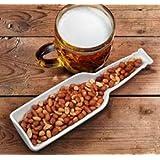 Porcelain BEER BOTTLE shaped nut snack DISH man cave bar beerbites snack freds