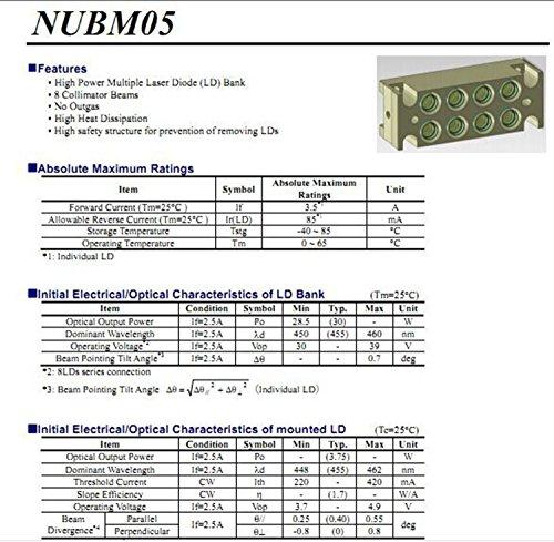 Nubm05 450 460nm Blue Laser Diode Module 835w 285w New Amazon