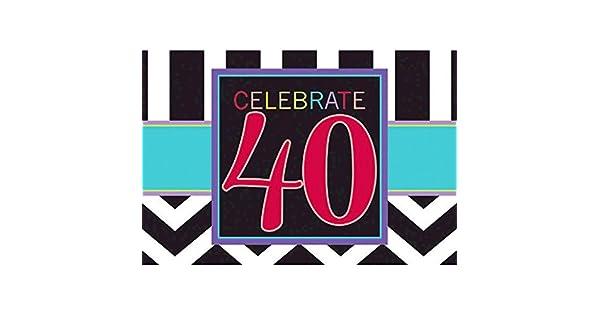 Amazon.com: Imprescindible Chevron y rayas 40th fiesta de ...
