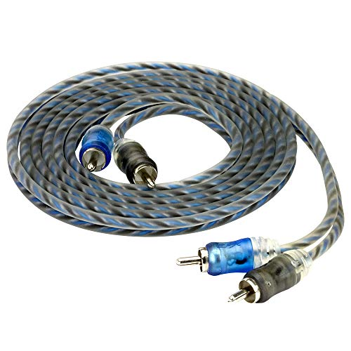 SCOSCHE EFXRP17 17' Performance Twisted RCA Cable; split-tip, 2-color micro barrel, retail window box by Scosche