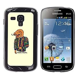 TECHCASE**Cubierta de la caja de protección la piel dura para el ** Samsung Galaxy S Duos S7562 ** Dinosaur Art Smoke Quote Fashion Painting