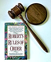 Gavel & Block & Robert\'s Rules of Order